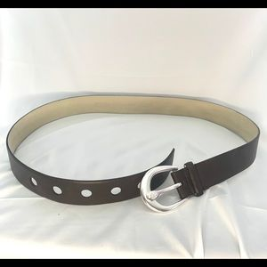 Michael Kors Accessories - Michael Kors Brown belt with silver tone accents